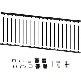 "8' x 36"" Black Aluminum Stair Railing Kit thumb"
