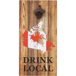 "8"" x 16"" Drink Local Wall Bottle Opener thumb"