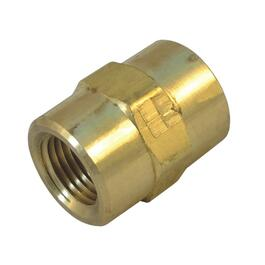 "1/4"" Female Pipe Thread Brass Coupling thumb"