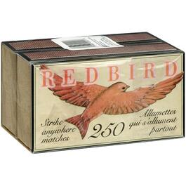 2 Packs of 250 Red Bird Strike Anywhere Kitchen Matches thumb