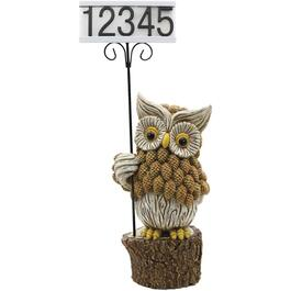 Owl Solar House Number Sign thumb