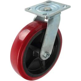 "8"" Polyurethane Wheel Swivel Plate Caster thumb"