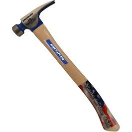 19oz Milled Face Framing Hammer, with Hickory Handle thumb