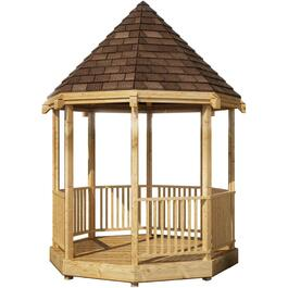 8' x 8' Pressure Treated Octagon Gazebo Package thumb