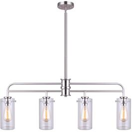 Albany 4 Light Brushed Nickel Pendant Light Fixture thumb