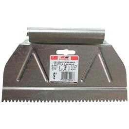 "9"" x 3/16"" V Notch Metal Adhesive Spreader thumb"
