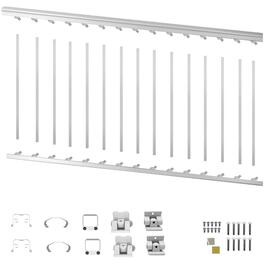 "6' x 36"" White Aluminum Stair Railing Kit thumb"