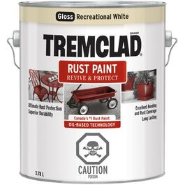 3.78L Gloss Recreational Vehicle White Alkyd Rust Paint thumb