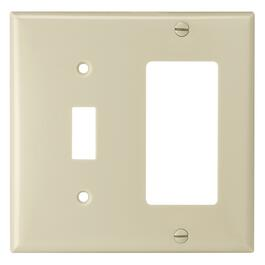 Ivory Decora/Toggle Switch Receptacle Plate thumb