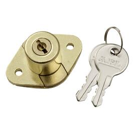 "7/8"" Brass Utility Drawer Lock thumb"