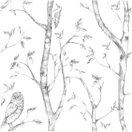 "20.5"" x 18' Grey Woods Peel and Stick Wallpaper thumb"
