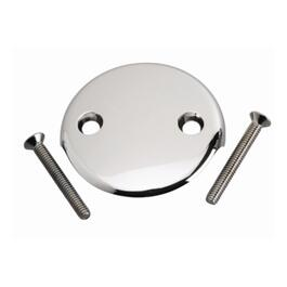 2 Screw Chrome Waste and Overflow Face Plate thumb