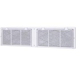 "6"" x 30"" White Poly Baseboard Grille, with Filter thumb"