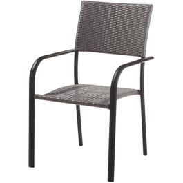 Commercial Aluminum Wicker Dining Chair thumb