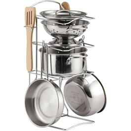 8 Piece Stainless Steel Pots+Pans Playset thumb