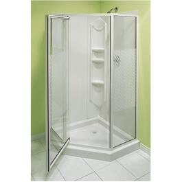 "38"" White Angle Shower Cabinet thumb"