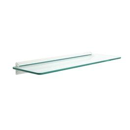 "8"" x 24"" Glass/White Rectangular Shelf Kit thumb"