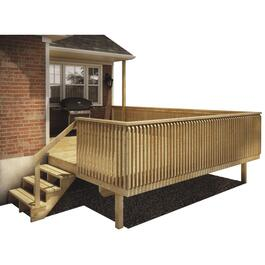 12' x 16' Premium Raised Deck Package, with Pressure Treated Joists and 2x6 Pressure Treated Decking thumb