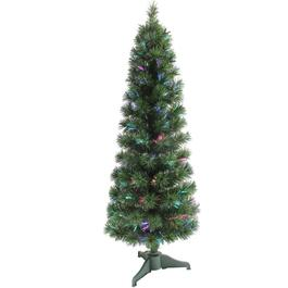 5' Slim Fibre Optic Cashmere Tree, with Colour Changing LED Lights thumb
