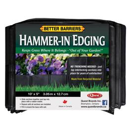 "5"" x 10' Black Hammer-In Poly Lawn Edging thumb"