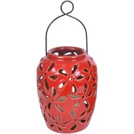 "8"" Ceramic Lantern, with Battery Operated Candle, Assorted Colours thumb"