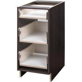 "24"" 3-Drawer Midnight Knockdown Base Cabinet thumb"