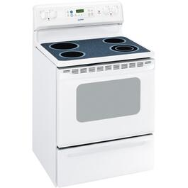 "30"" White Self Cleaning Smooth Top Electric Range thumb"