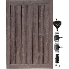 6' x 4' Dark Walnut Brown Ashland Gate, with Hardware thumb