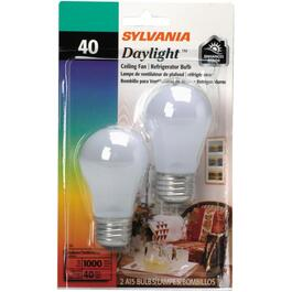 2 Pack 40W A15 Medium Base Daylight Appliance Light Bulbs thumb
