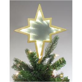 "8.5"" Warm White LED Battery Operated Lights Infinity Star Tree Topper thumb"