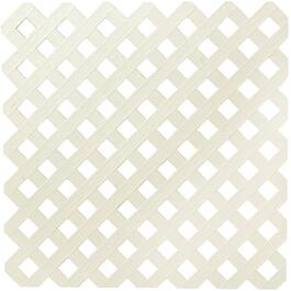 4' x 8' Almond Diamond Vinyl Privacy Lattice thumb