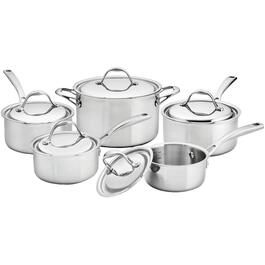 10 Piece 3 Ply Stainless Steel Cookware Set thumb