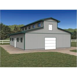 36' x 48' x 10' Horse Stable Farm Building Package thumb