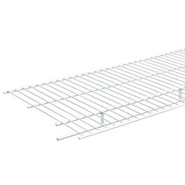 "16"" x 12' White Wire Shelf, with Rod thumb"
