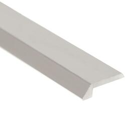 "1/8"" x 6' Polished Silver Aluminum Tile Edging thumb"