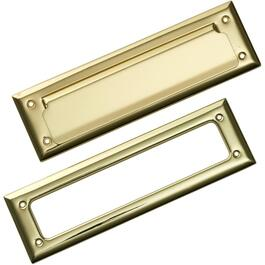 "10"" x 3"" Brass Plated Letter Mail Slot thumb"