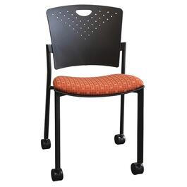 Navy Polypropylene Stacking Chair thumb