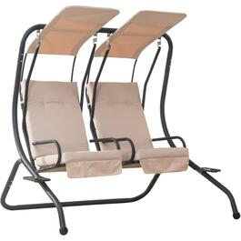 2 Seat Side by Side Steel Elizabeth Swing, with Cushions thumb