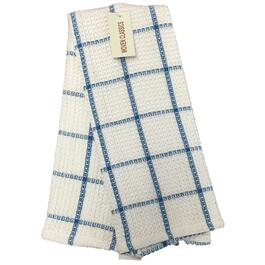 "18"" x 28"" Blue and White Waffle Tea Towel thumb"