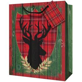 "10"" x 13"" x 5"" Paper Christmas Gift Bag, Assorted Designs thumb"