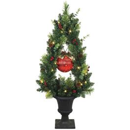 3.5' Ball Decorated Potted Tree, with 50 LED Lights thumb