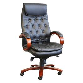 Black Leather Match High Back Office Chair thumb