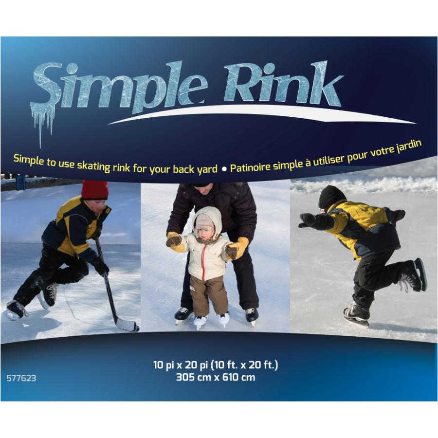 Simple Rink 10 X 20 Backyard Ice Rink Home Hardware Backyard skating rink kit canada