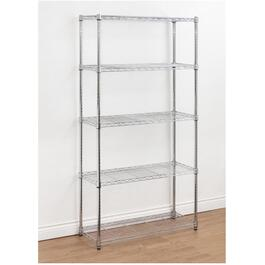 "14"" x 36"" x 72"" 5 Shelf Chrome Wire Shelving Unit thumb"