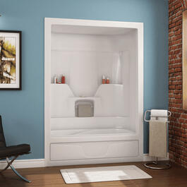 "60"" 3 Piece White Acrylic Right Hand Tub and Shower thumb"
