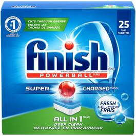 25 Tabs PowerBall Fresh Scent Dishwasher Detergent thumb