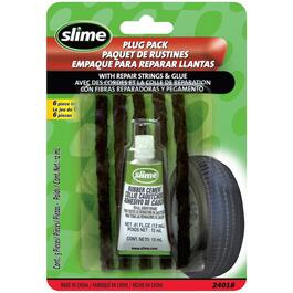 6 Piece Tire Plug Kit, with Repair Strings and Glue thumb