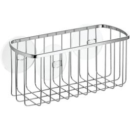 Stainless Steel Rectangle Suction Shower Basket thumb