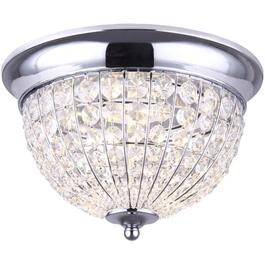 Tilly 19W Chrome with Crystals Flush Mount LED Light Fixture thumb