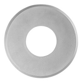 "Low Profile 8"" Round Satin Chrome Magnetic Cover for Existing Recessed Lights thumb"